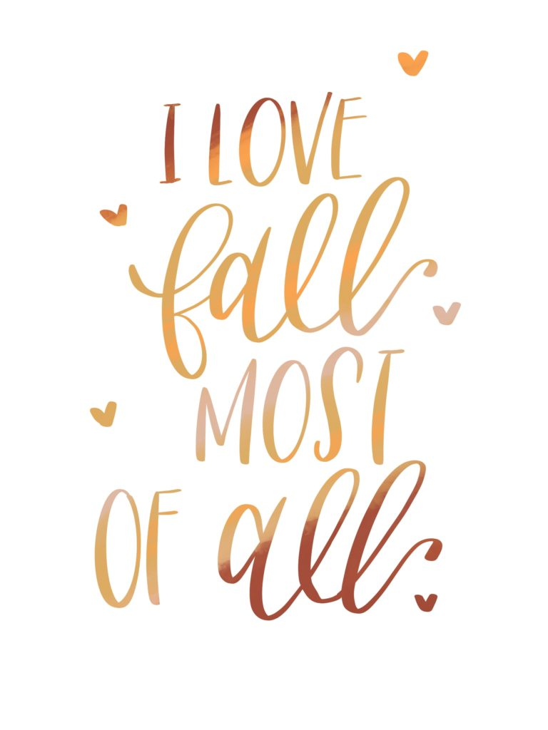 Fall Lettering And A Freebie Jennie S Letters